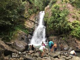La Mina falls El Yunque National Forest Puerto Rico Jan. 2017.