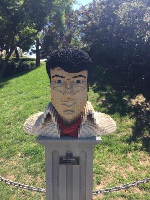 The King in Lego. Legoland California 2016.