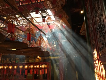 Man Mo Temple Hong Kong incense.
