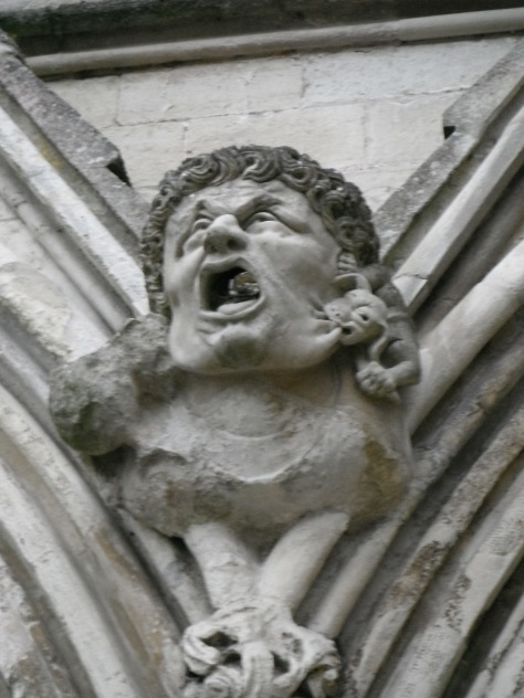 More tiny demons. Salisbury Cathedral 2012.