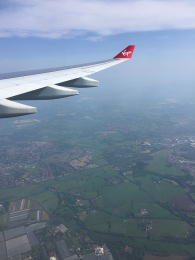 First Virgin Atlantic flight ATL-LHR May 2016. UK below.